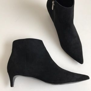 Charles David faux suede kitten heel booties 11